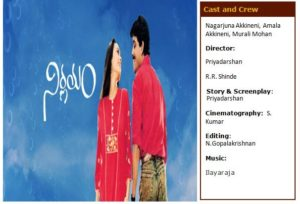 Nirnayam Telugu Movie - R.R Shinde Movie list